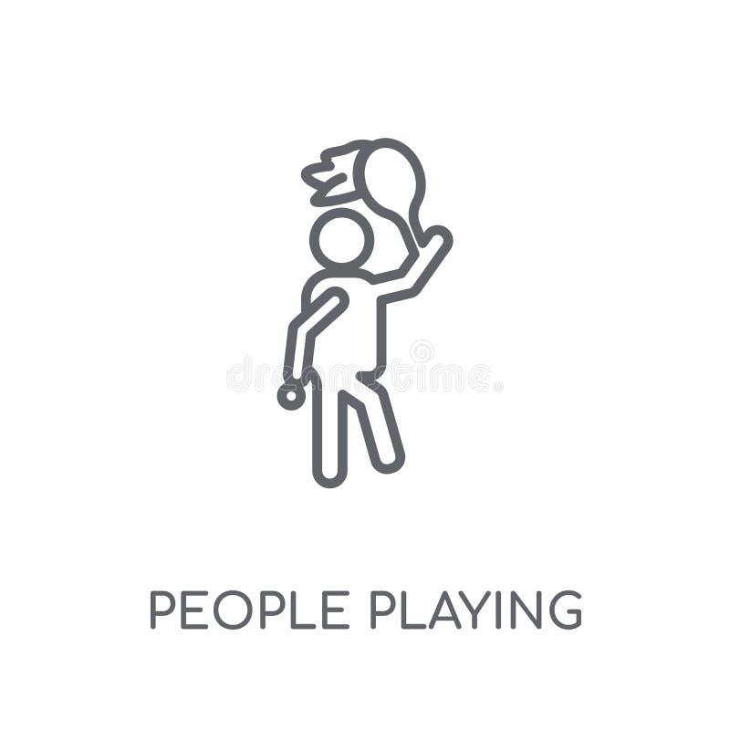 演奏南瓜象线性象的人们 现代概述人民pl 库存例证