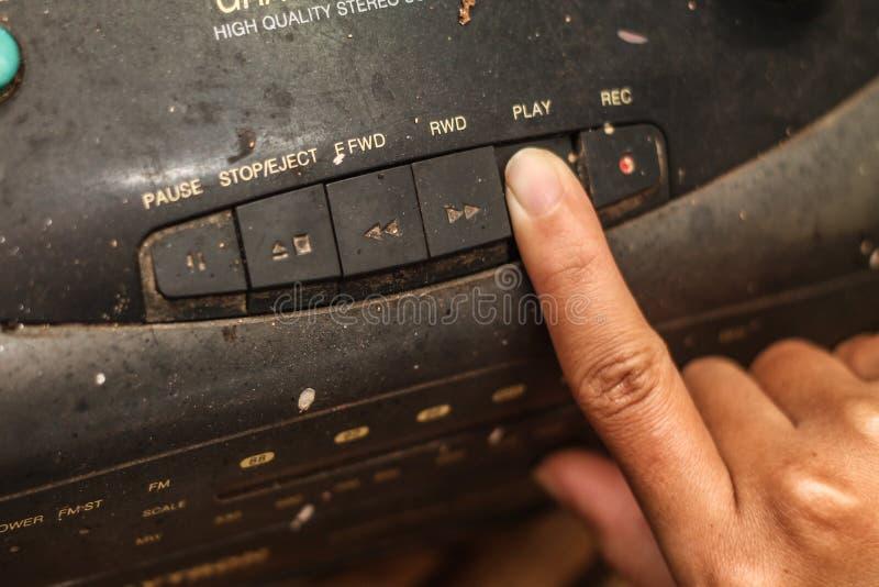演奏卡式磁带播放机,版本5 库存照片