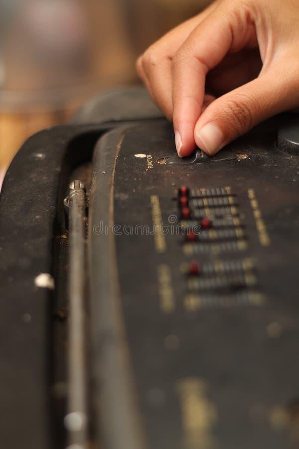 演奏卡式磁带播放机,版本8 免版税库存照片