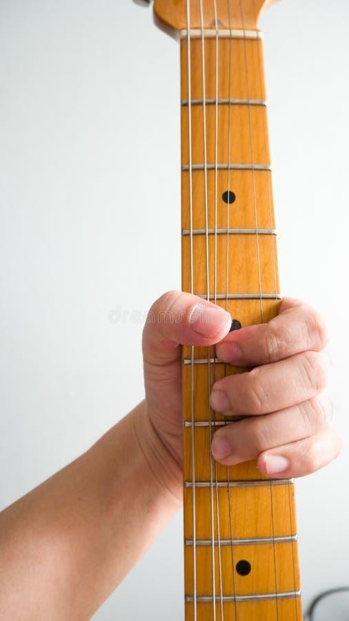 演奏吉他混和 免版税图库摄影