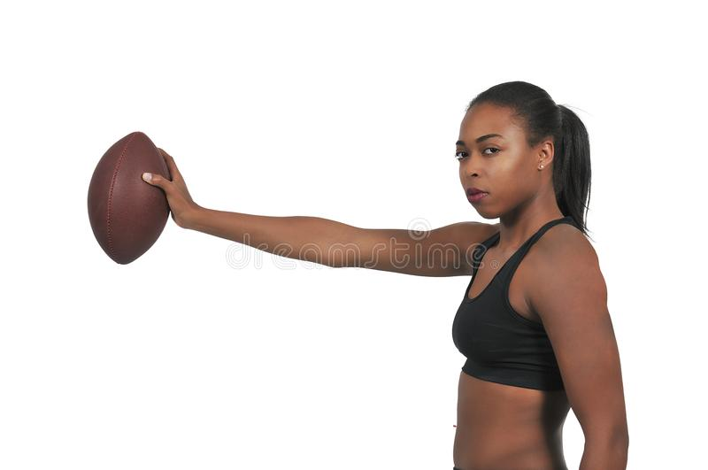 演奏妇女的橄榄球 库存图片