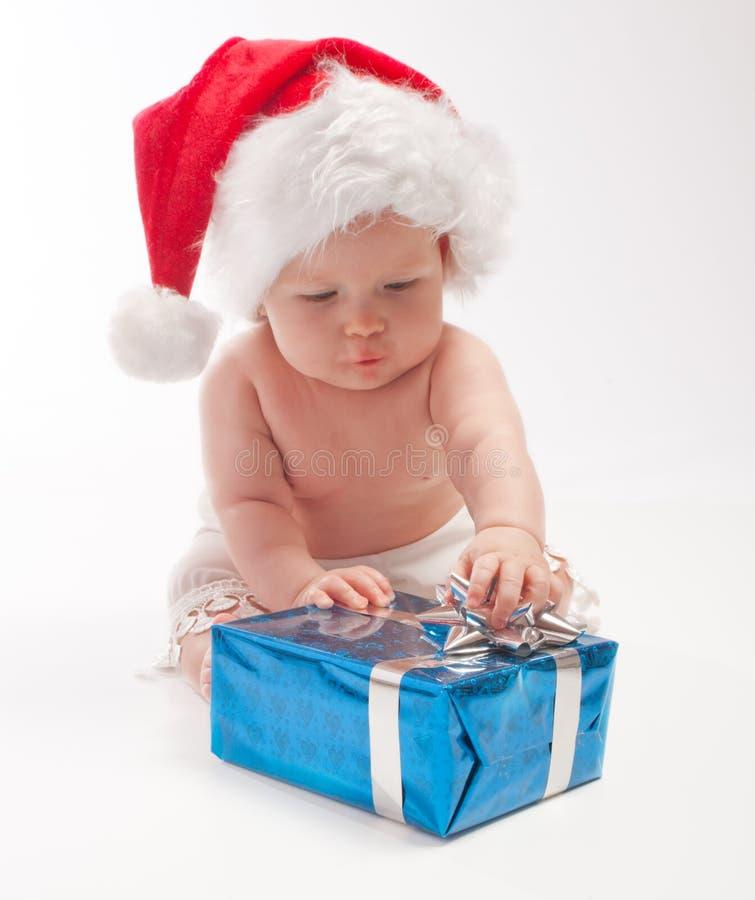 演奏存在的婴孩配件箱 免版税库存图片