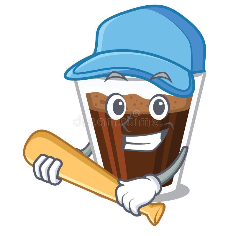 演奏棒球爱尔兰coffe隔绝与动画片 皇族释放例证