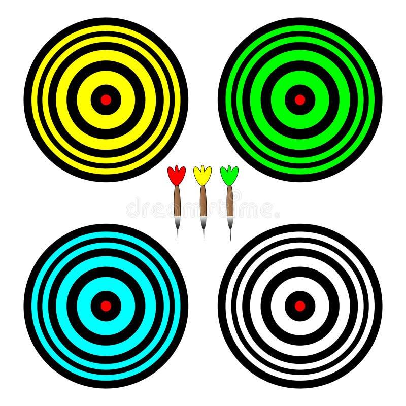 演奏的箭四个色的委员会 皇族释放例证