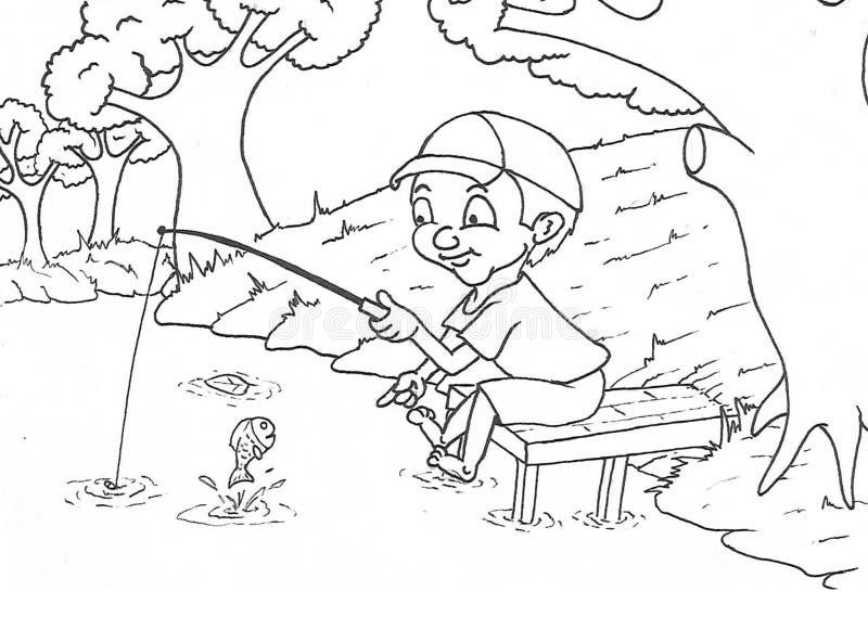 演奏跳绳动画片的女孩 库存例证
