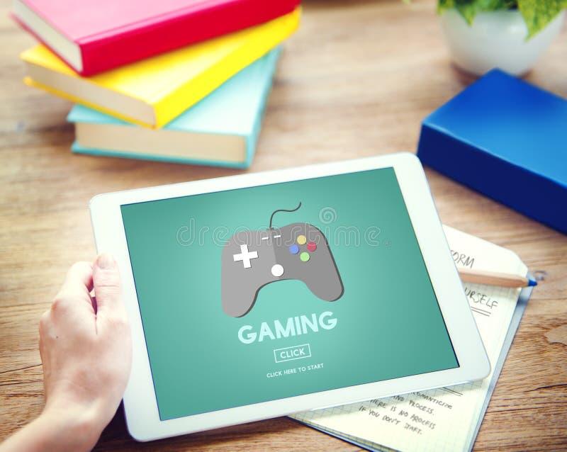 演奏问题控制杆设备概念的赌博 库存照片