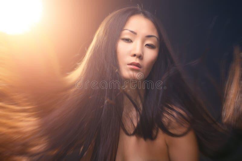 亚裔妇女画象  库存图片