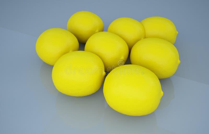 黑演播室柠檬果子照片 免版税图库摄影
