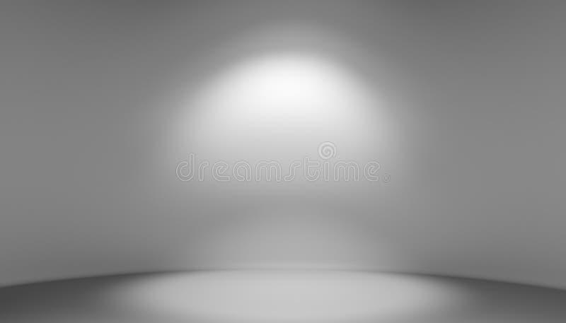 演播室灰色背景 3d例证 皇族释放例证