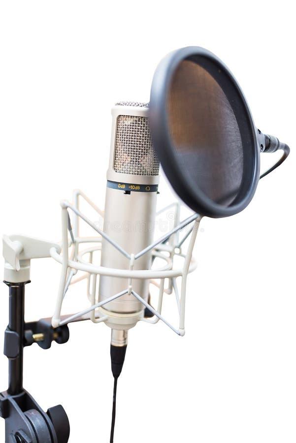 演播室电容传声器 库存图片