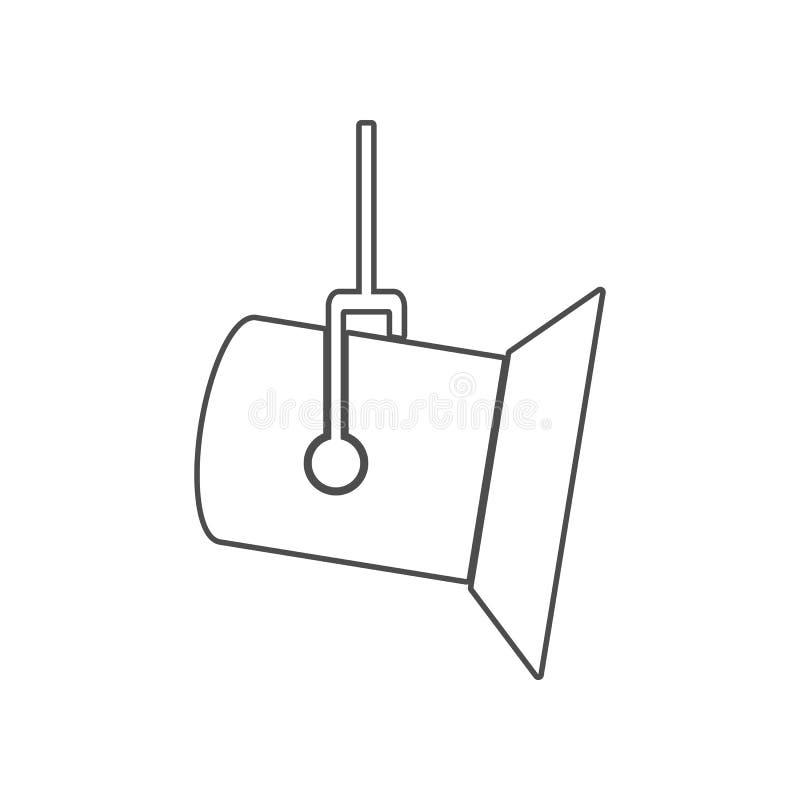 演播室聚光灯象 设置戏院元素象 r 标志和标志汇集象为 库存例证