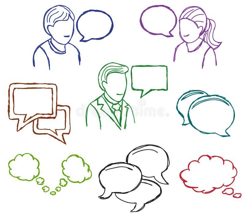 演讲和通信图标 库存例证