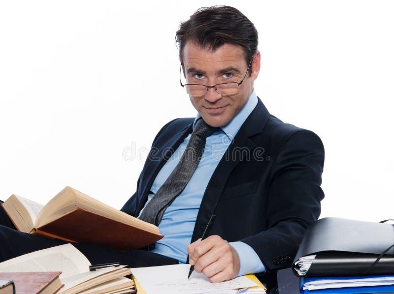 演讲的人教授 免版税图库摄影
