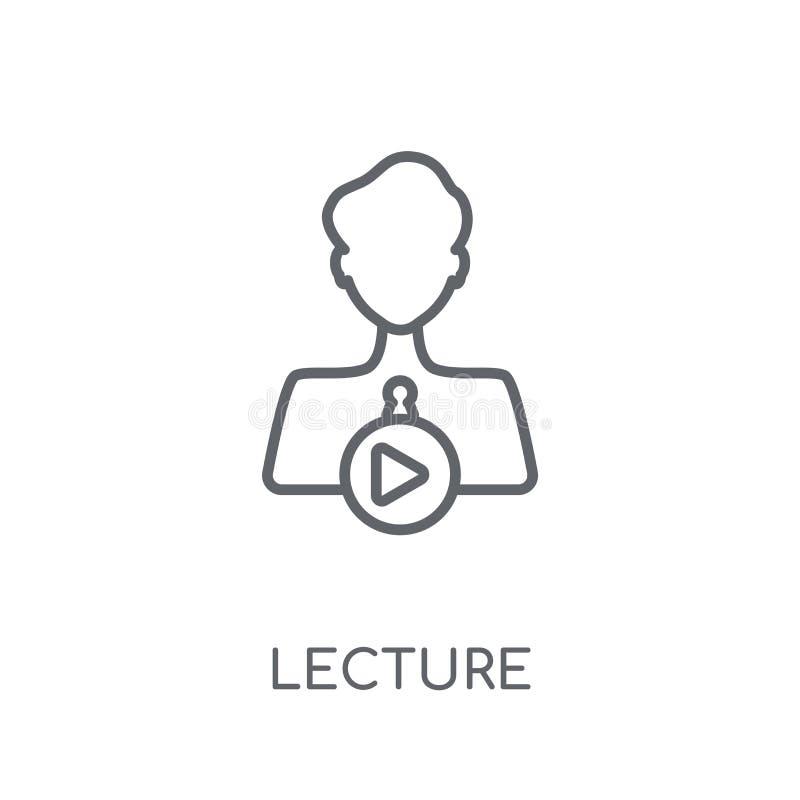 演讲线性象 在丝毫的现代概述演讲商标概念 向量例证