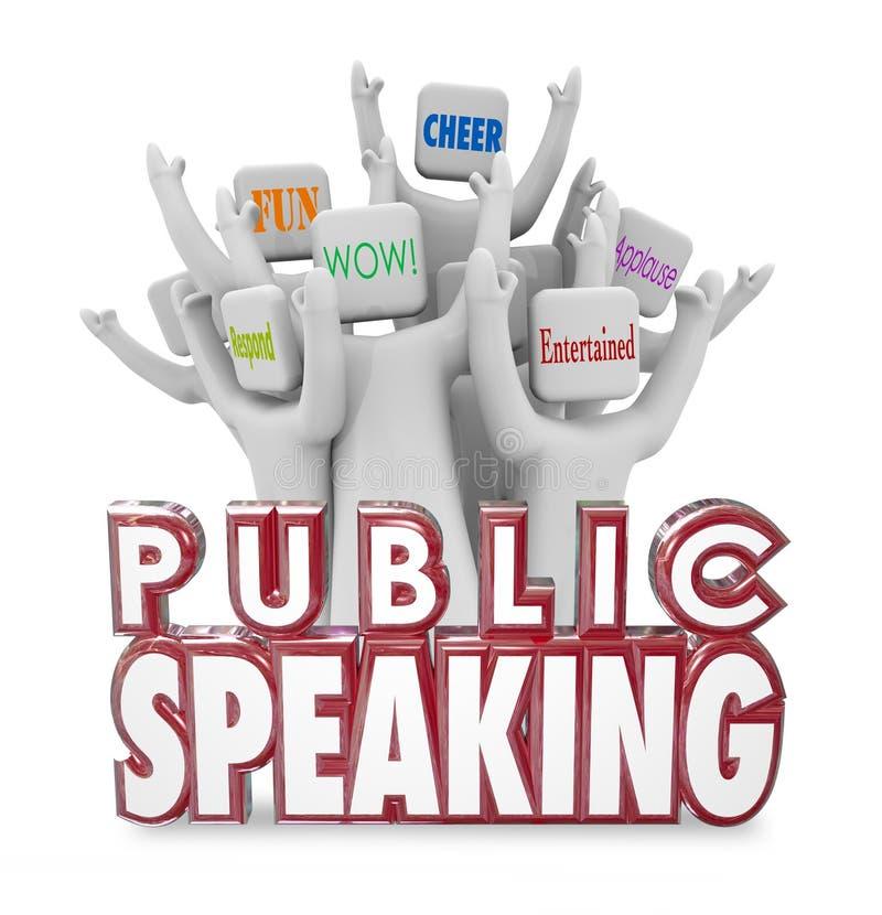 演说人观众欢呼的有趣的乐趣讲话 向量例证