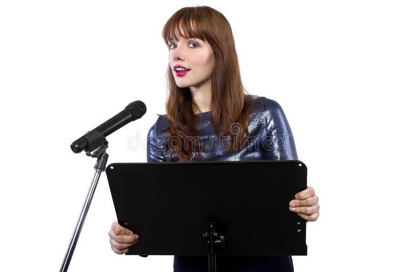 演说女性 库存图片