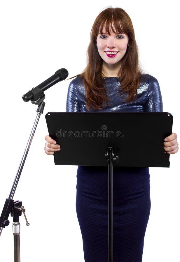 演说女性 免版税库存照片