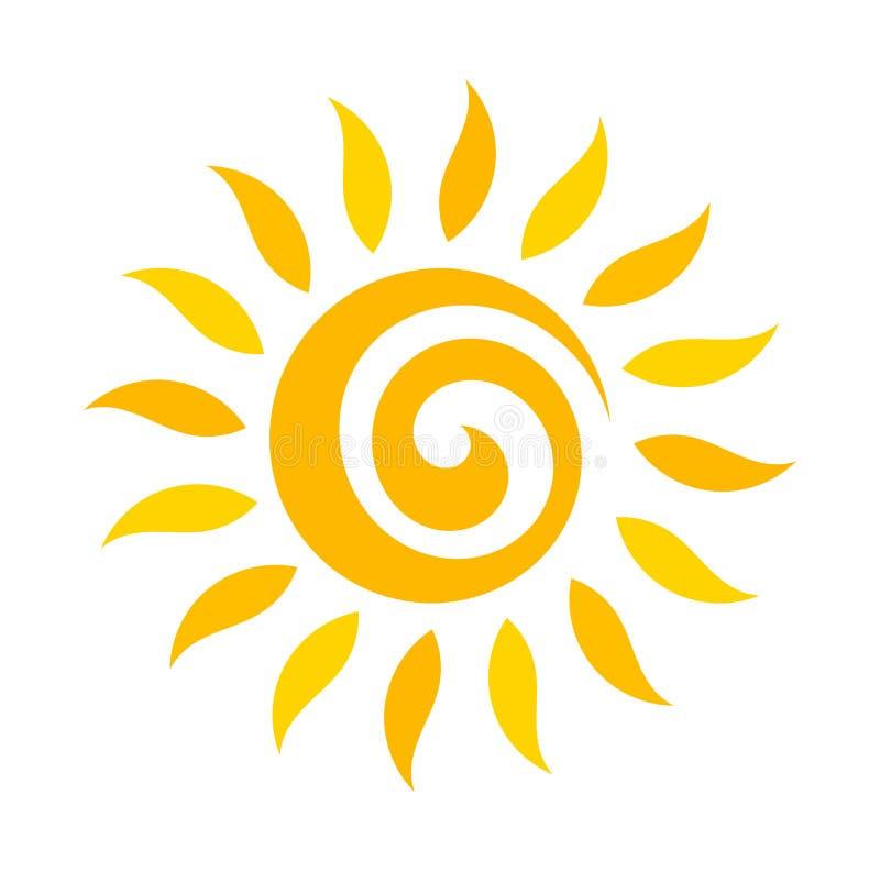 漩涡太阳象 库存例证