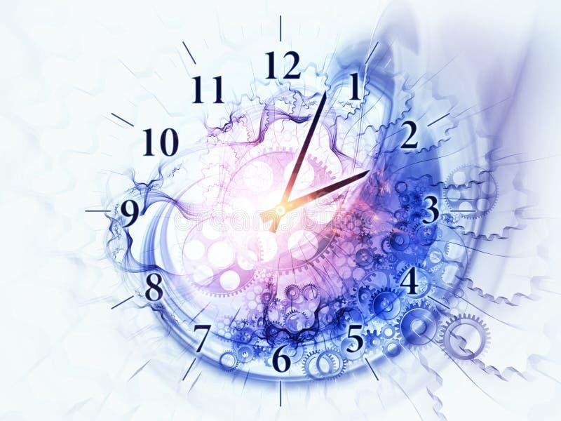 漩涡时间 向量例证