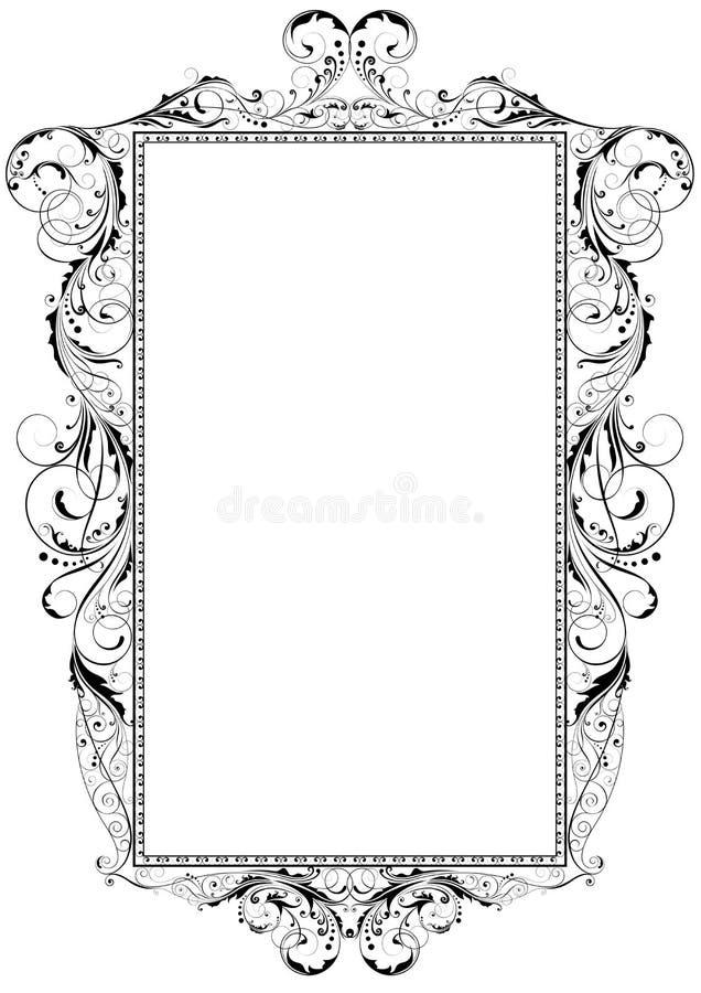 漩涡框架装饰品 皇族释放例证