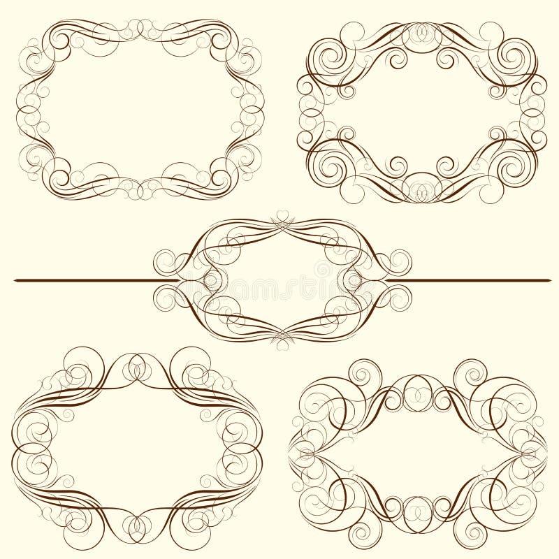 漩涡框架设计的套 向量例证