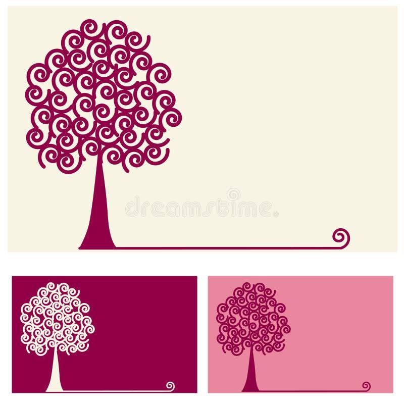 漩涡结构树 向量例证