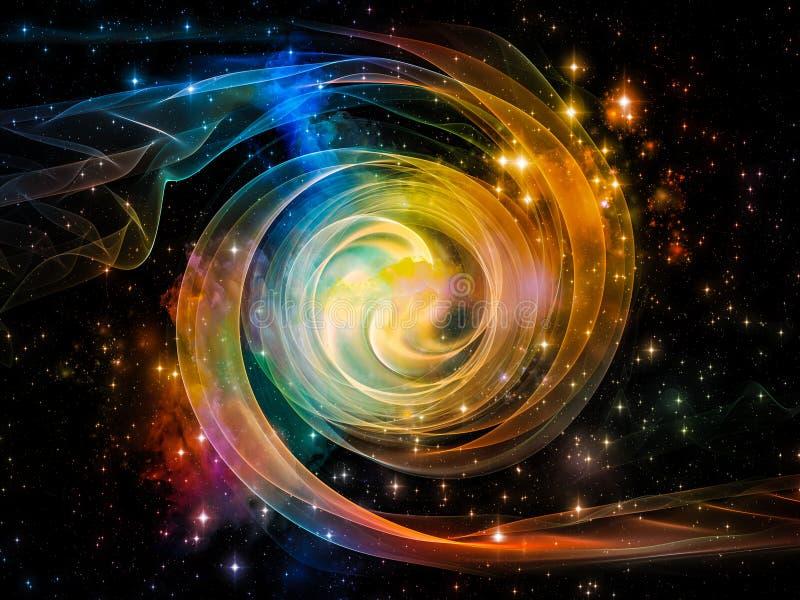 漩涡能量  向量例证