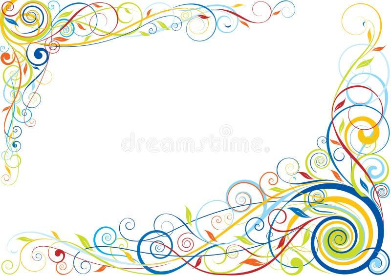 漩涡花卉颜色设计 皇族释放例证