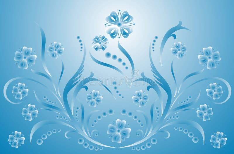 漩涡花饰装饰例证滚动向量 向量例证