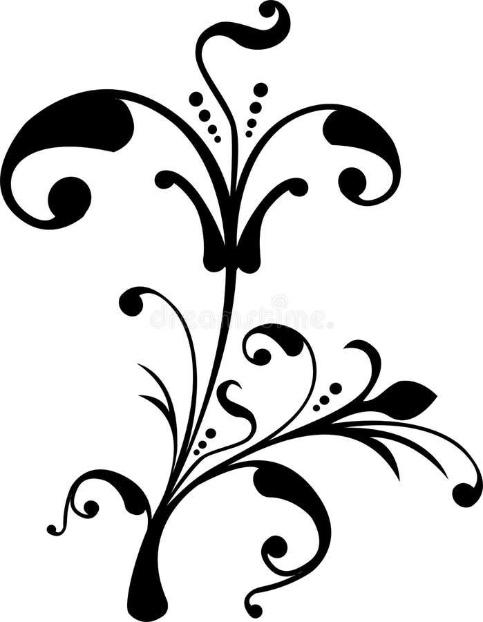 漩涡花饰装饰滚动向量 皇族释放例证