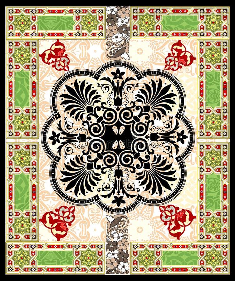 漩涡花饰装饰滚动vect 库存例证