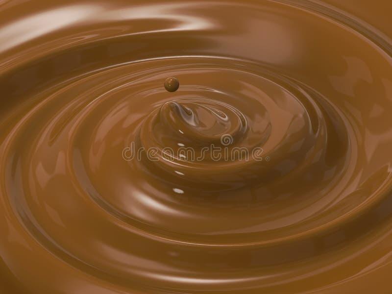 漩涡融解巧克力 向量例证