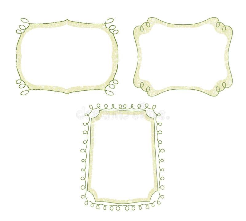 漩涡装饰品手拉的框架集合传染媒介 皇族释放例证