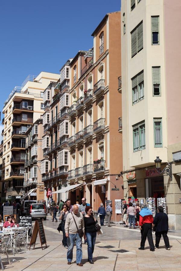 街道在马拉加,安大路西亚西班牙 免版税库存照片