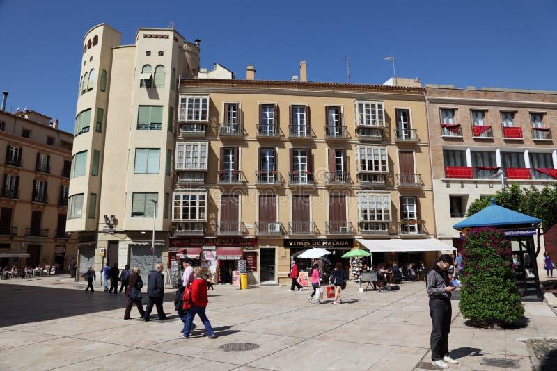市马拉加,安大路西亚西班牙 库存照片