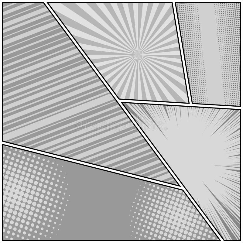 漫画书单色原始的背景 皇族释放例证