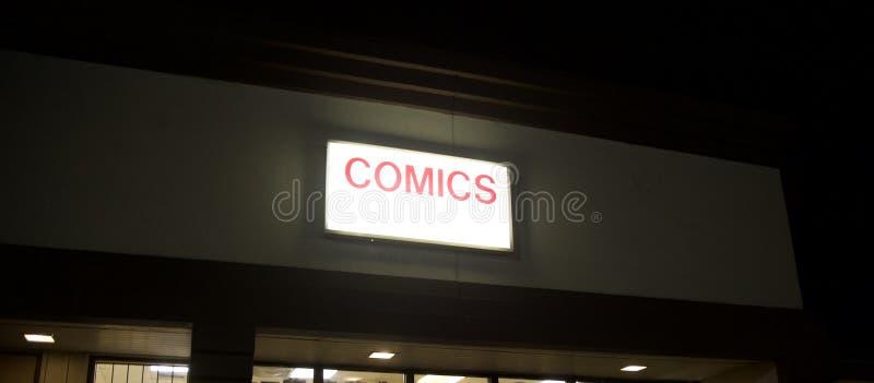 漫画书商店 库存照片