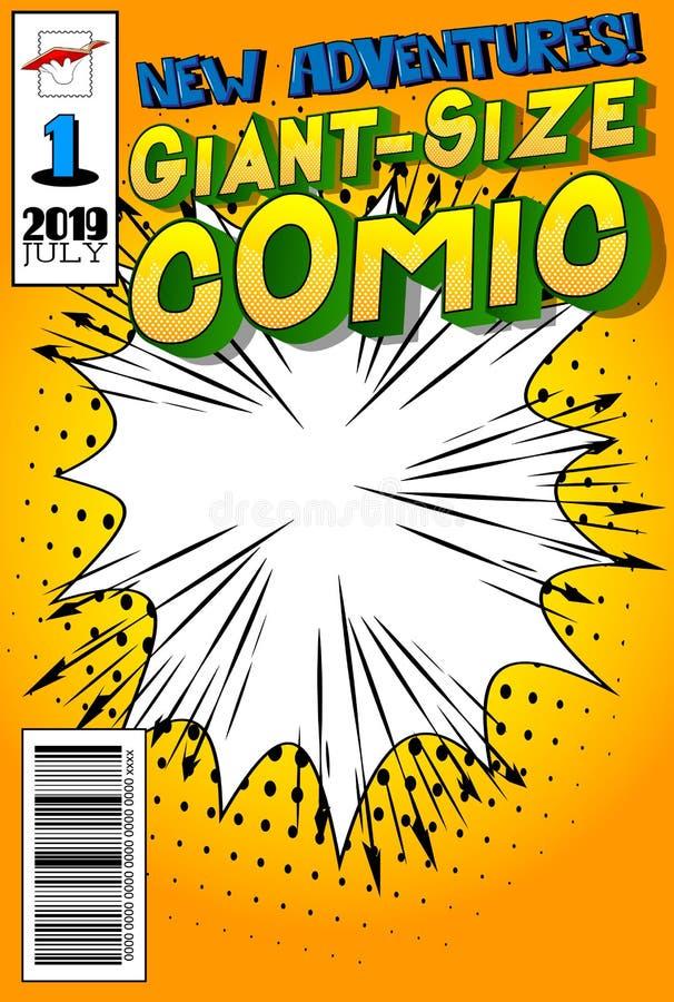 漫画书套有抽象背景 皇族释放例证