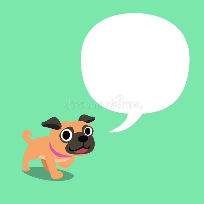 漫画人物哈巴狗狗和白色讲话起泡 皇族释放例证
