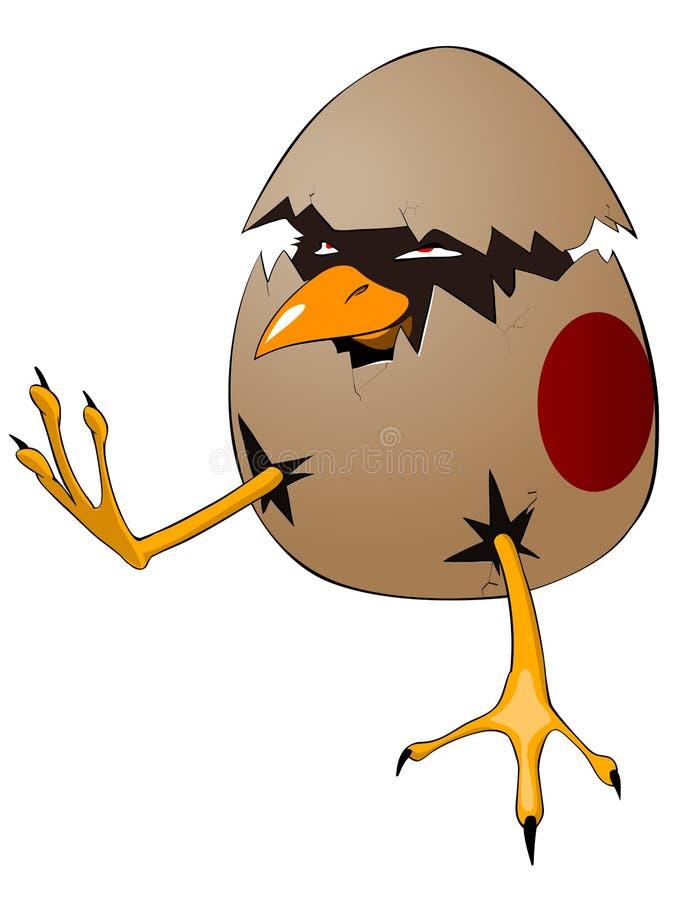 漫画人物小鸡 向量例证