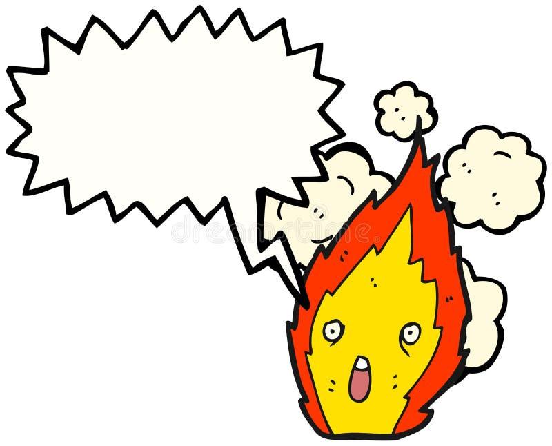 漫画人物火 向量例证