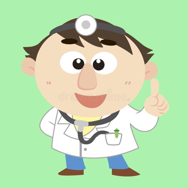 漫画人物,向量例证医生, 库存例证