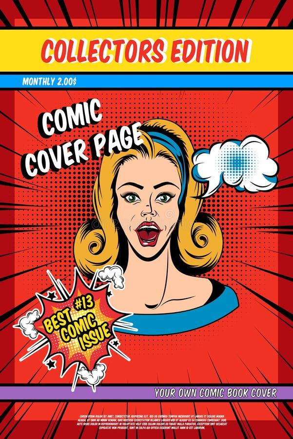 漫画书封页 向量例证
