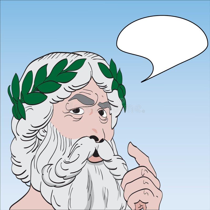 漫画书样式上帝/圣人 皇族释放例证