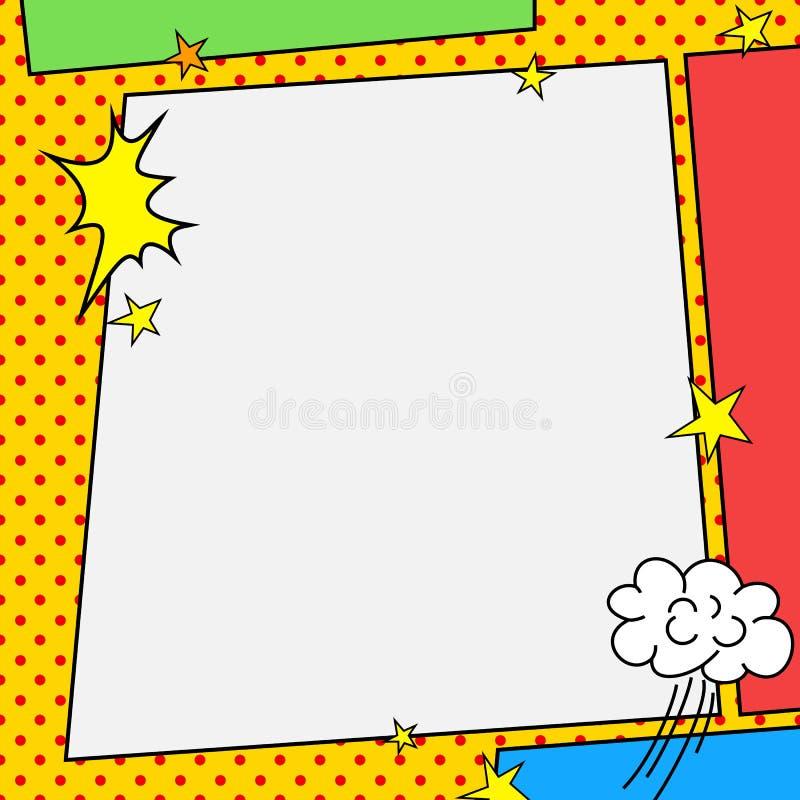 漫画书样式框架 皇族释放例证