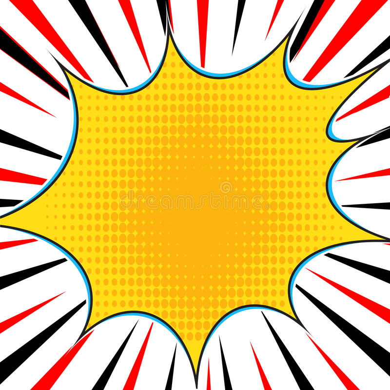 漫画书爆炸超级英雄流行艺术样式辐形排行背景 Manga或芳香树脂速度框架 库存例证