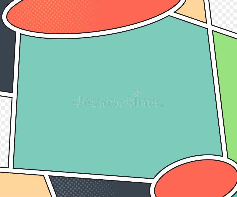 漫画书页传染媒介大模型  流行艺术样式 库存例证