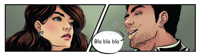 漫画艺术夫妇 皇族释放例证