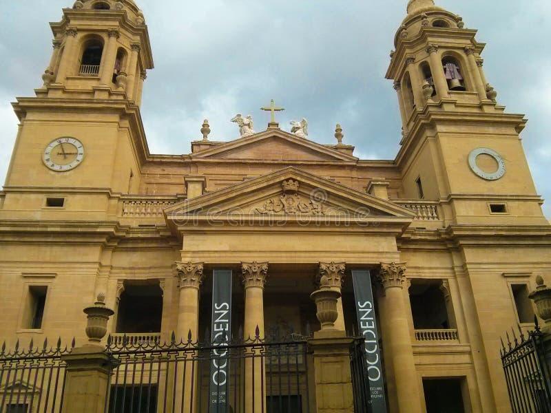 潘普洛纳大教堂真正Catedral de圣玛丽亚的la,大教堂o 免版税库存图片