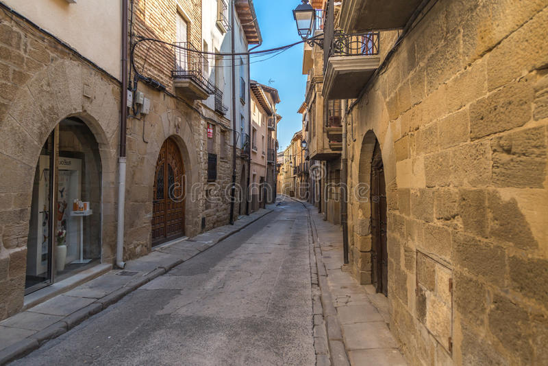 潘普洛纳区街道在西班牙 免版税库存图片